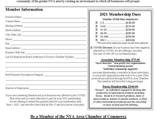 2021 Membership Info!