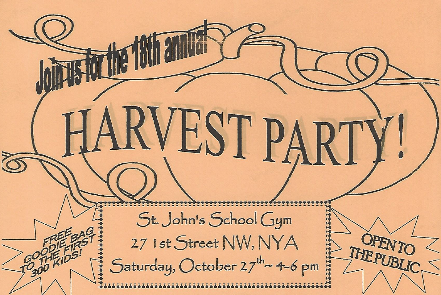 NYA Chamber - St. John's 18th Harvest Party